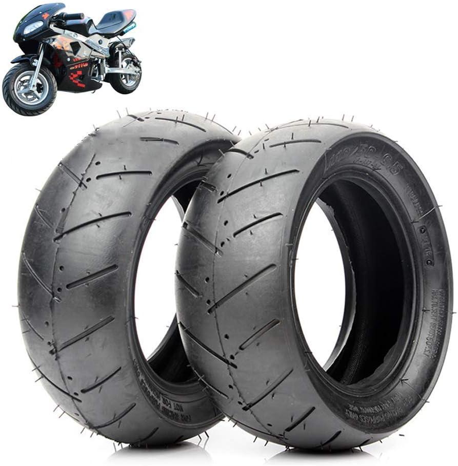 YXZQ Neumáticos, 90/65-6.5/110 / 50-6.5 Neumáticos de vacío, Resistentes al Desgaste y Antideslizantes, adecuados para neumáticos Delanteros y Traseros de Coche Deportivo pequeño/Mini motoc