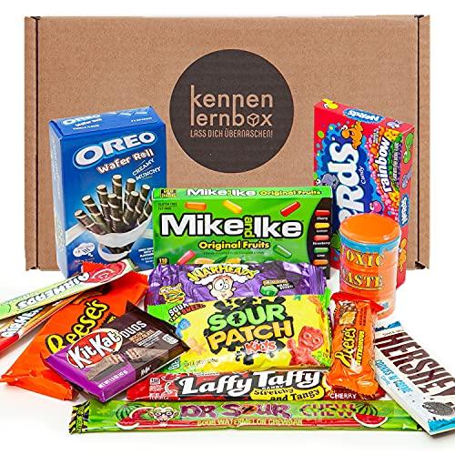 USA Jumbo Box   Kennenlernbox mit 14 beliebten Süßigkeiten aus Amerika   Geschenkidee für besondere Anlässe wie…