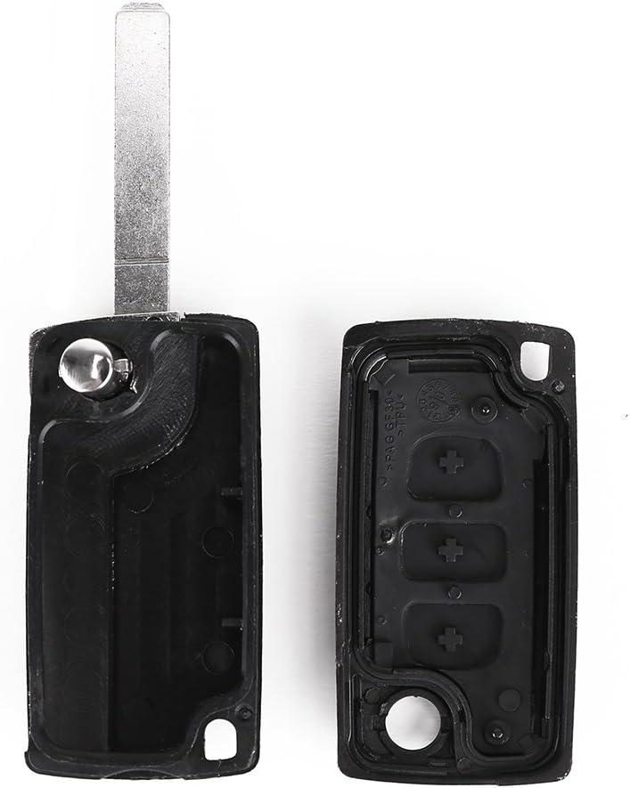 a 3 tasti per Peugeot 407//407 SW Alloggiamento per chiave
