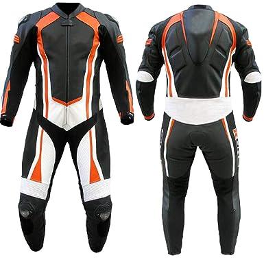 Amazon.com: Stormwise - Traje de moto de piel auténtica para ...
