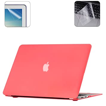 i-Buy Funda Dura para Carcasa MacBook Air 13 Pulgadas(Model A1932 2018.11) con Retina Display y Touch ID + TPU Skins para Teclado + Filtros de ...