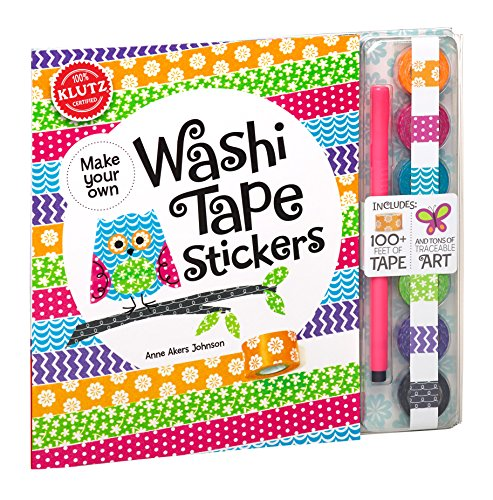 Price comparison product image Klutz Make Your Own Washi Tape Stickers: Shape This Tape Into Crazy Cute Stickers Craft Kit
