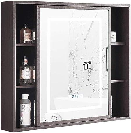 YWAWJ Inteligente Armario con Espejo montado en la Pared del Cuarto de baño Espejo del gabinete Toque Armario con Espejo antivaho Puerta corredera de Pared Muebles de baño: Amazon.es: Hogar
