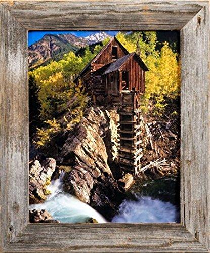 MyBarnwoodFrames Homestead Reclaimed Barnwood 5x7 Picture Frame (1.5 Inch Frame Width)
