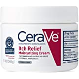 CeraVe Moisturizing Cream for Itch Relief | 12 Ounce | Dry Skin Itch Relief Cream with Pramoxine Hydrochloride…