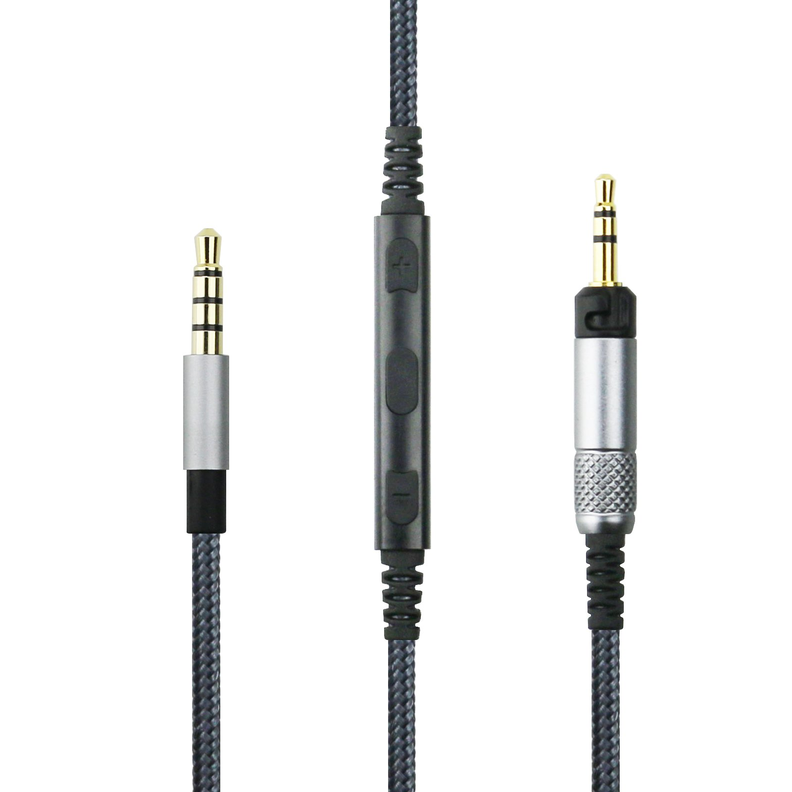 NewFantasia replacement cable for Audio Technica ATH-M50x, ATH-M40x, ATH-M70x Headphones, Remote volume control & Mic fit iphone ipod ipad apple devices