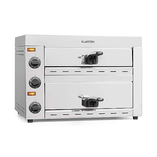 Klarstein Vesuvio II Pro horno para pizzas - 2260 W, 2 cámaras ...