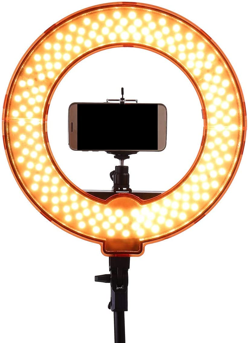 Color : C, Size : 12inch Canyixiu-Home Tripod Stand Phone Holder 12 Inch Dimmable LED Video Ring Light with Diffuser Tripod Stand Holder for YouTube TIK Tok Live Streaming LED Ring Light Kit
