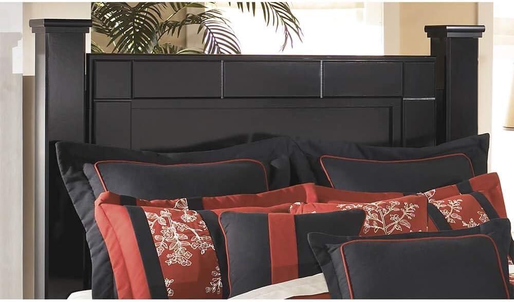 Amazon Com Ashley Furniture Signature Design Shay King Poster Headboard Panel Component Piece Almost Black