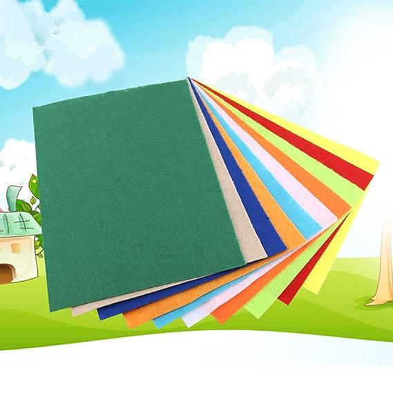10 unids 20 * 30 cm Colores Mezclados Tela No Tejida Patchwork Square Hoja de Fieltro Para Coser Artesanía DIY: Amazon.es: Hogar