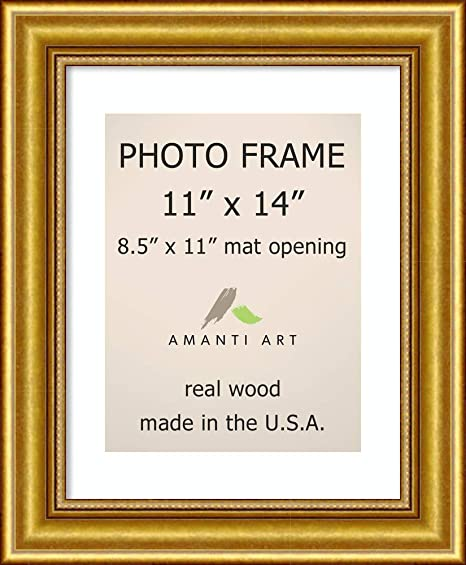 Amazon Com Amanti Art Picture Photo Frame 11x14 Matted To 8 5x11 Townhouse Gold Picture Frame 11 00 X 14 00 Inches Wood Frame X Small Photo Frame Home Kitchen