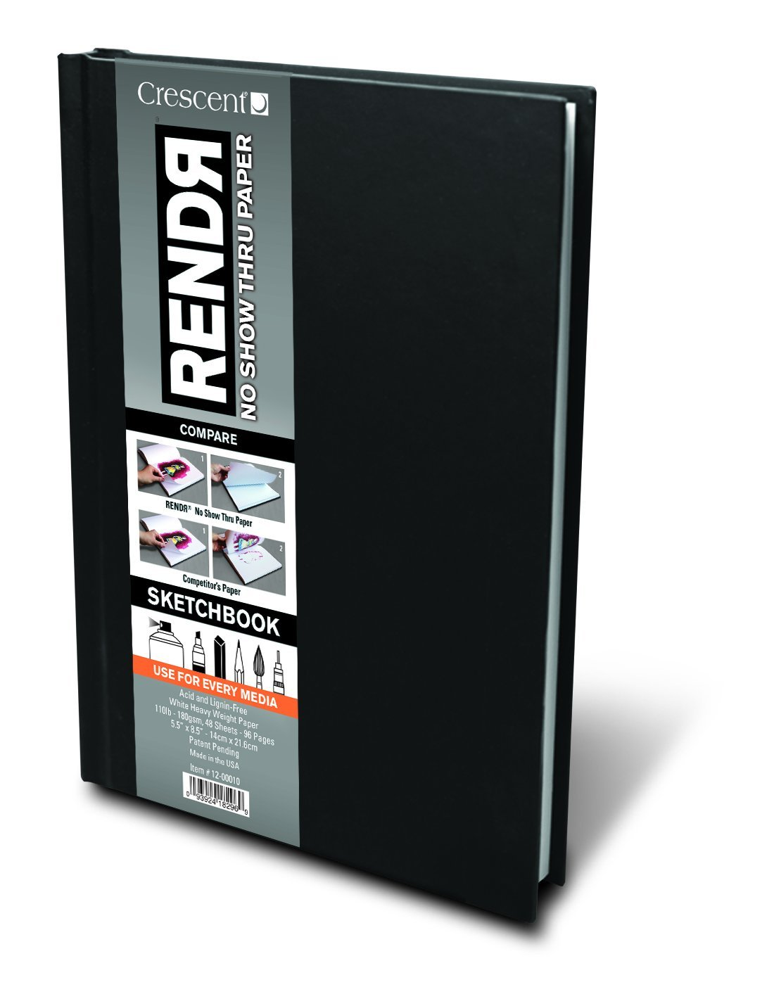 Crescent Creative Products 5.5 8.5-Inch RENDR Hardbound Sketchbook, 5.5'' x 8.5'' by Crescent Creative Products
