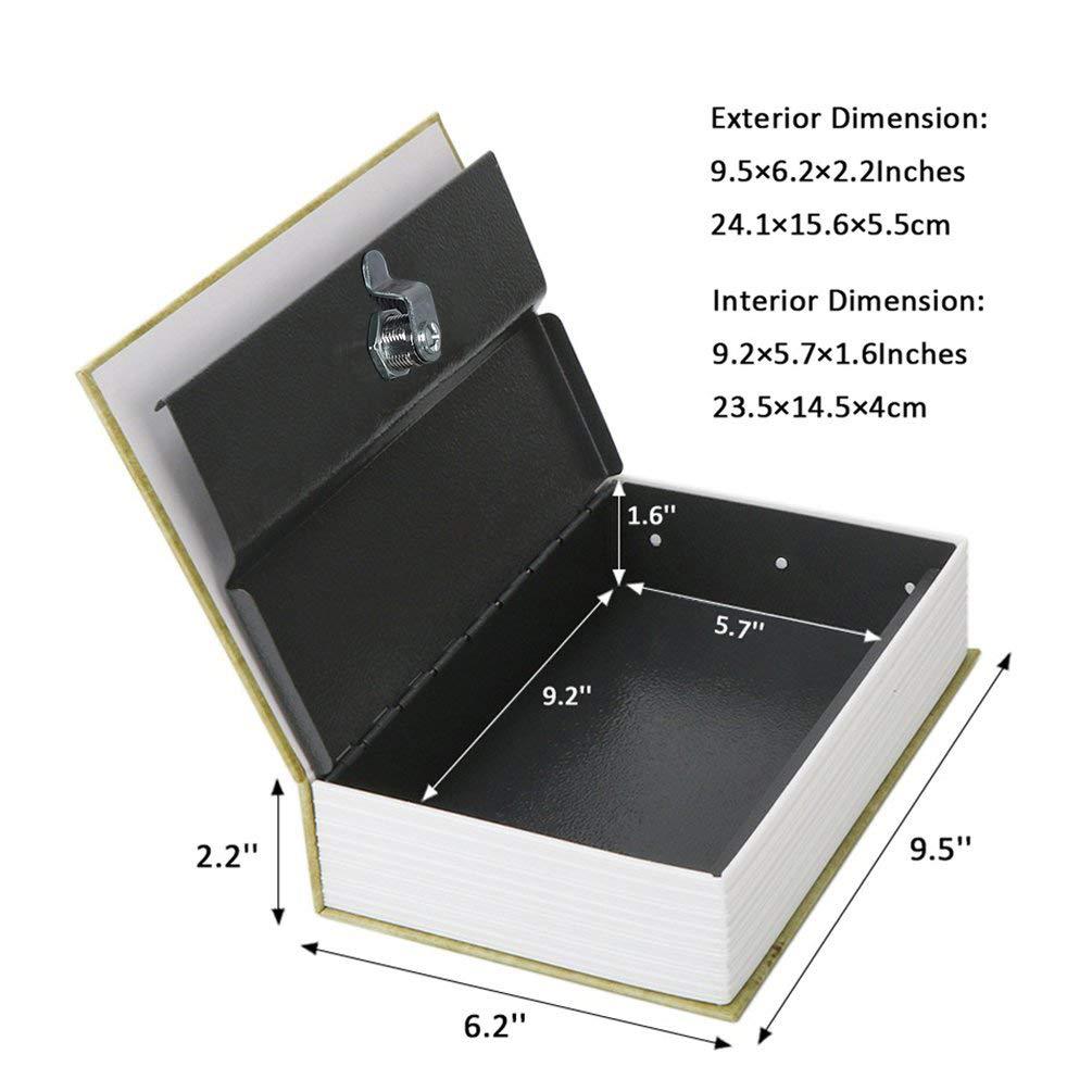 Jssmst Diversion Book Safe with Key Lock SMBS021L Secrect Hidden Safe Lock Box Large 2018