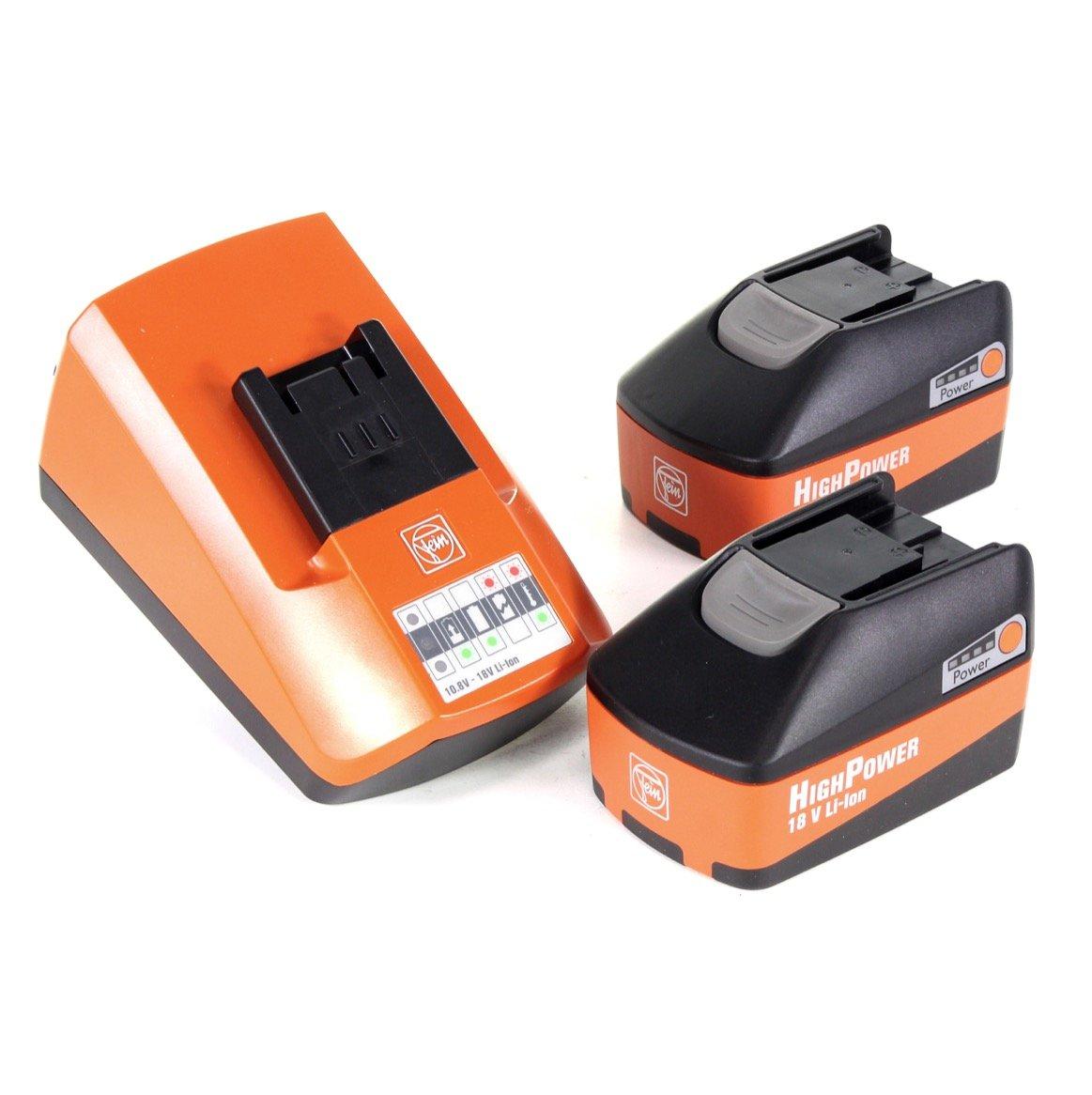 Fein High Power Batería Starter Set alg 50 universal cargador rápido + 2 x 5,2 Ah Batería (92604307010): Amazon.es: Bricolaje y herramientas