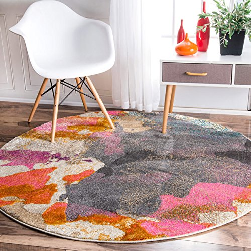 nuLOOM Abstract Vintage Fancy Multi Roun - Round Cowhide Rugs Shopping Results