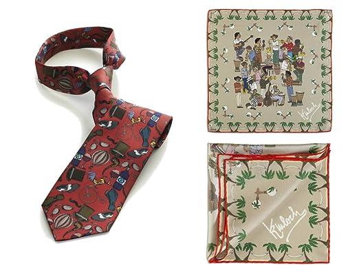 on sale 5a88d 44323 Kinloch, Cravatta Homme Rossa cm 145 e Pochette Banda Cubana ...