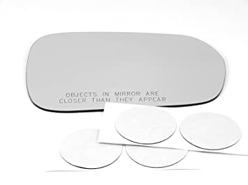 Glass Lens Only w//Adhesive  USA Fits 10 Forte Sedan Left Driver Mirror