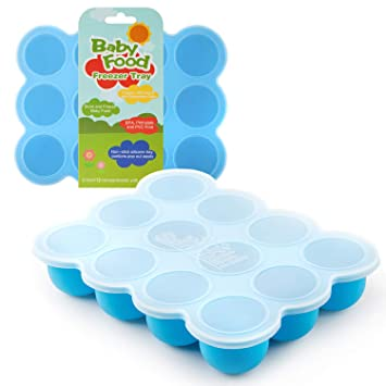 e09891e5c Samuelworld Baby Food Storage Container, 12 Portions Freezer Tray with Lid,  12x2.5oz BPA Free,...