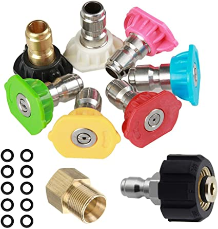 Pressure Washer Adapter Set M22 Male Fitting for Gardening Spray