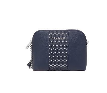 7a94d780f1e4 Michael Kors Micro Stud Cindy LG Dome Crossbody Navy: Handbags ...