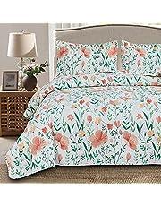 Lightweight Floral Bedspread Set