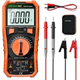 Digital Multimeter, Crenova TRMS 6000 Counts Volt Meter Auto Ranging, with NCV, Diodes & Continuity, Frequency…