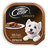 Cesar CANINE CUISINE Wet Dog Food with Duck, (Pack of 24) 3.5 oz. Trays