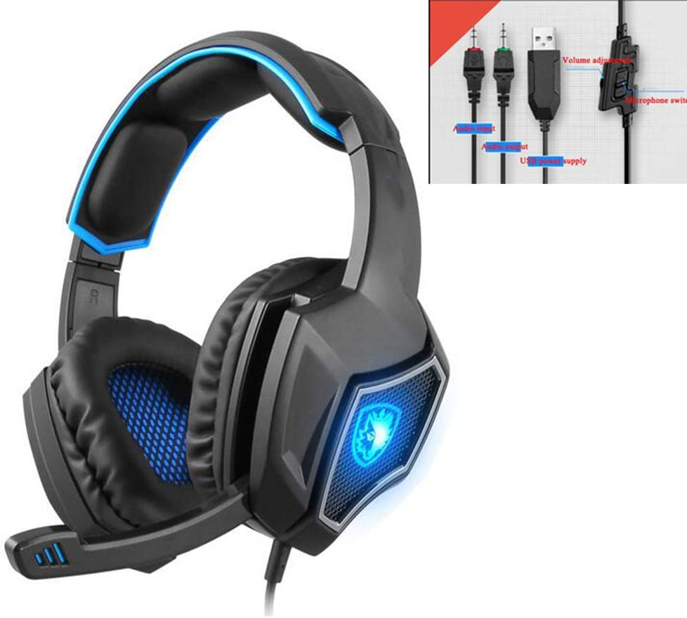 Liuliangei Computer Gaming Headset Headset E-Sports Headset with Microphone Microphone,Red