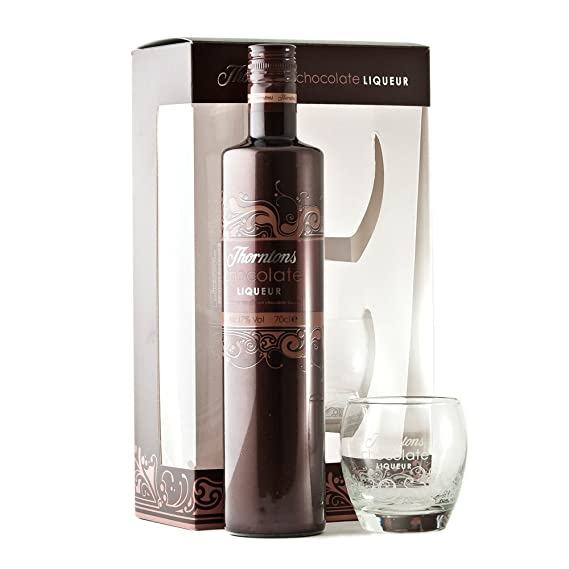 Thorntons Chocolate Liqueur Giftset With 2 Glass Tumblers