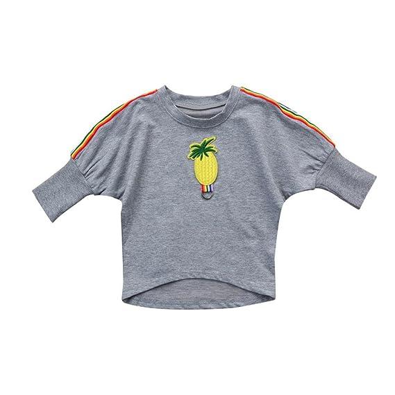QUICKLYLY Blusas y Camisetas de Bebé Niñas Invierno Otoño Manga Larga Recién Infantil Piña Tapas Ropa Sudaderas: Amazon.es: Ropa y accesorios