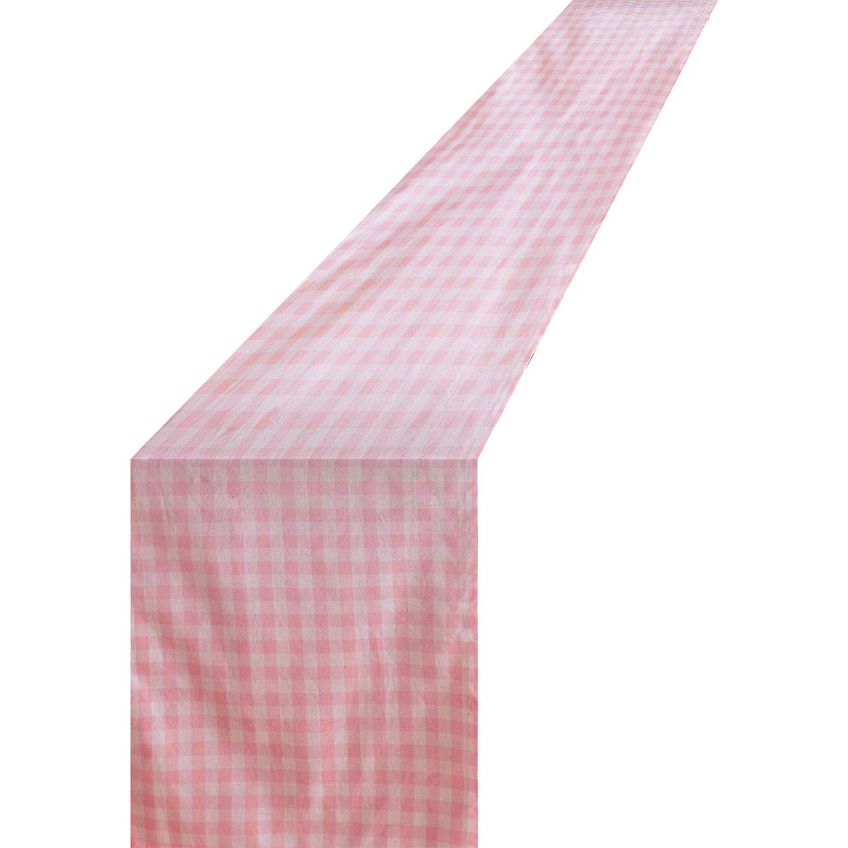 COLORED BIRD Pink Plaid Checkered Table Runner Trendy Modern Plaid Design 100 Cotton Tablerunner Elegant D cor for Indoor Outdoor Events 13 x 100 Pink and White