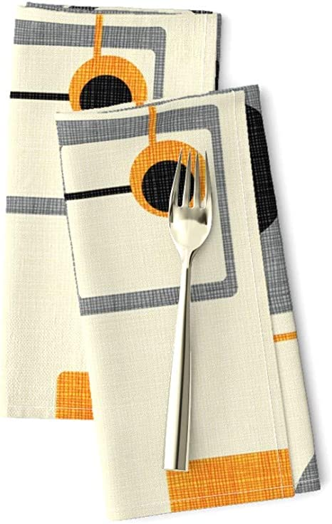 Southwestern Geometric Boho Geo Cotton Dinner Napkins by Roostery Set of 2