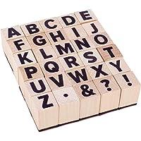 PandaHall 30 stks A ~ Z Letter Houten Postzegels Houten Rubber Alfabet en Symbool Postzegels voor DIY Ambacht, Letters…