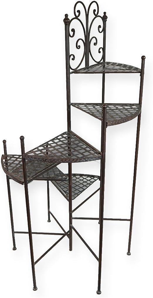PrimoLiving - Escalera para macetas (Metal), Color marrón Envejecido: Amazon.es: Jardín