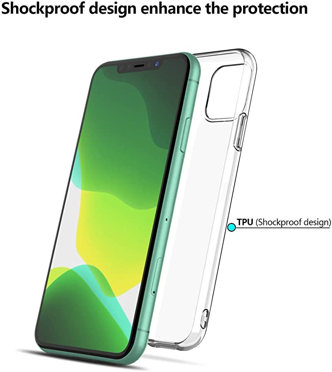 Enova - Carcasa de Gel para iPhone 11 Pro (2 Unidades): Amazon.es ...