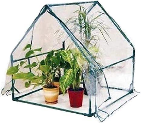 CRZJ Túnel de jardín Tienda de cobertizo para Plantas de Invernadero, Claro Jardinería Invierno Balcón Cobertizo para Flores, 90 * 90 * 92 cm: Amazon.es: Deportes y aire libre