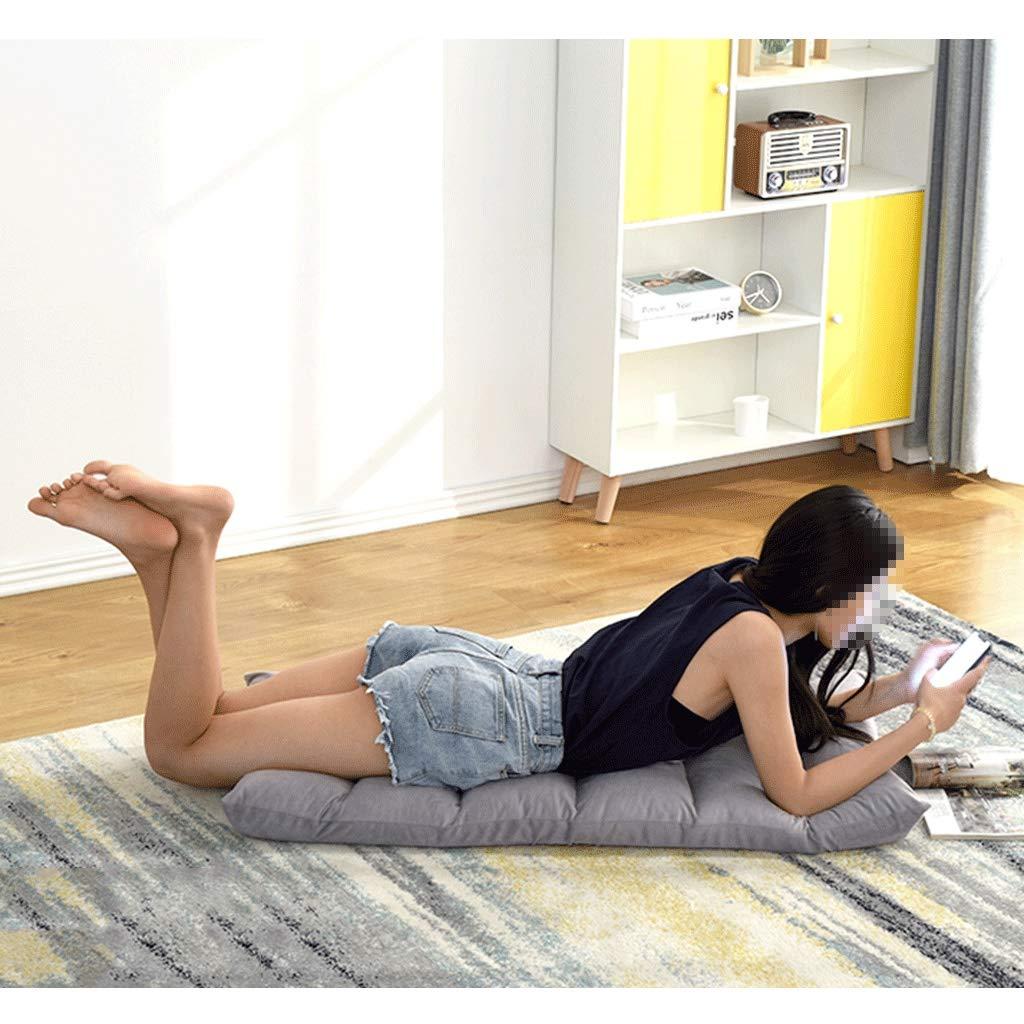 HEJINXL filt soffa golvstol ryggstöd 5 fack justerbar filt kudde datorstol lämplig sovrum vardagsrum sovsal lagervikt fin flanell golvstol (färg: D) E