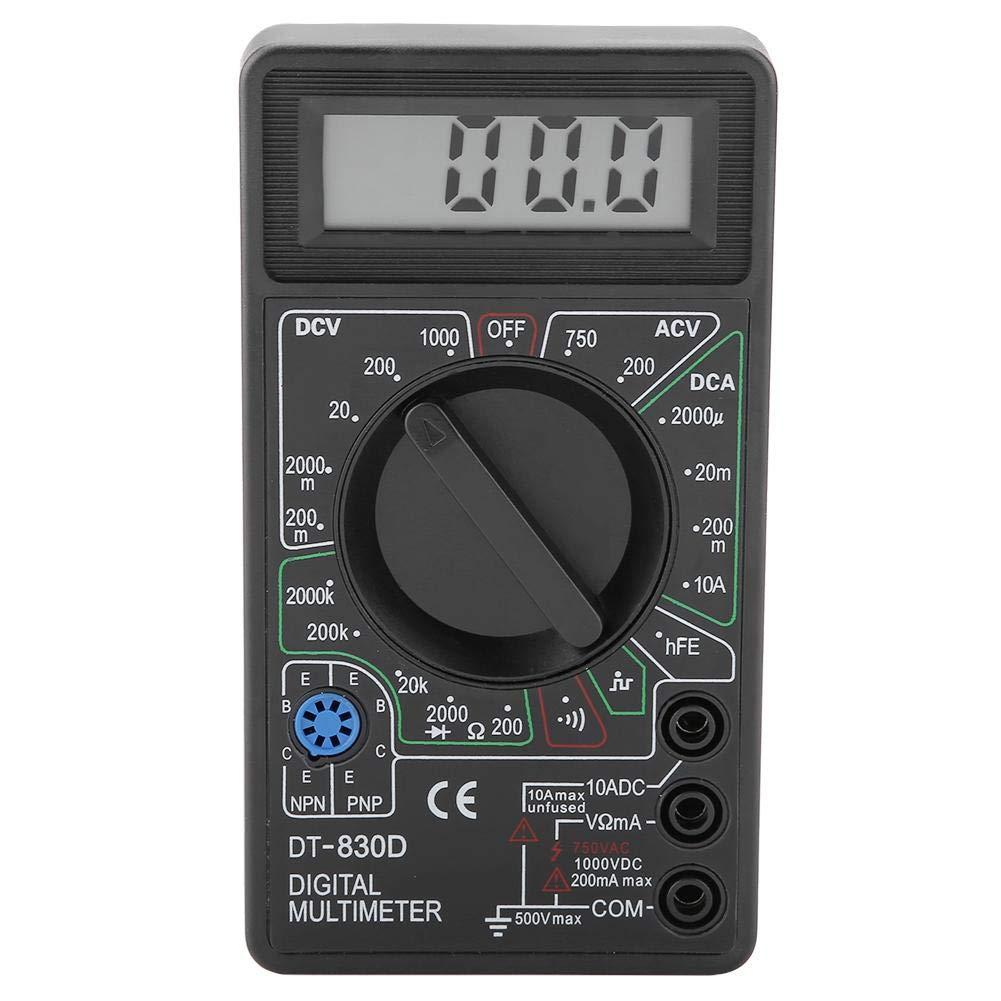 DT830D AC//DC Mini Digital Pantalla LCD Mult/ímetro Zumbador Volt/ímetro Amper/ímetro Ohm/ímetro Probador de Medidor