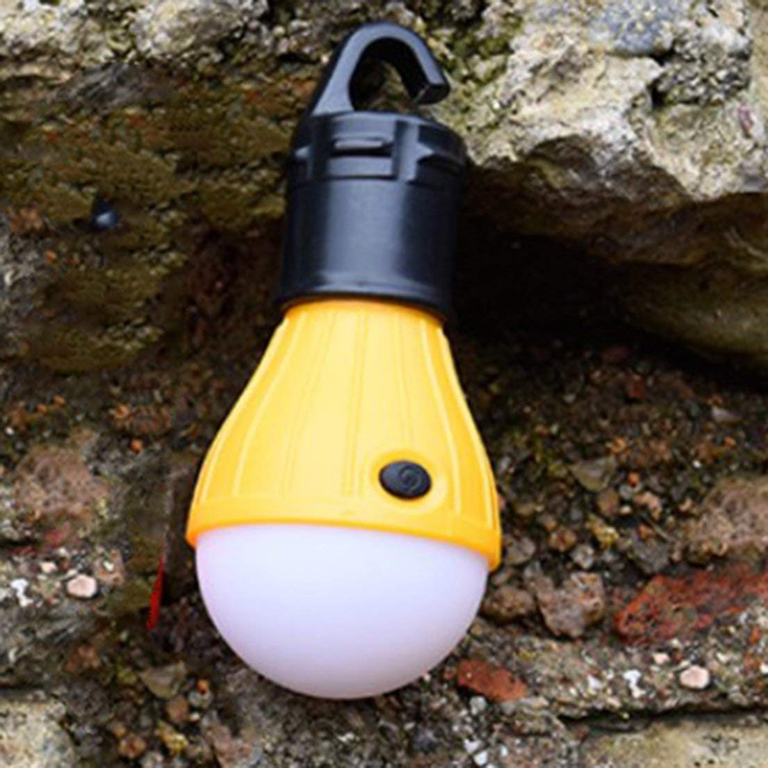 Mini Linterna port/átil Tienda de luz LED Bombilla Impermeable Colgante Gancho Linterna para Acampar DFHJSXD