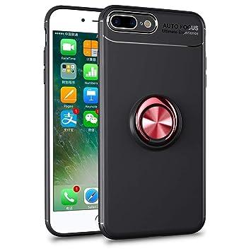 SORAKA Funda iPhone 7 Plus, Funda iPhone 8 Plus,Soporte rotación de 360 Grados, Carcasa de TPU Delgada y Compatible con Soporte magnético para Coche