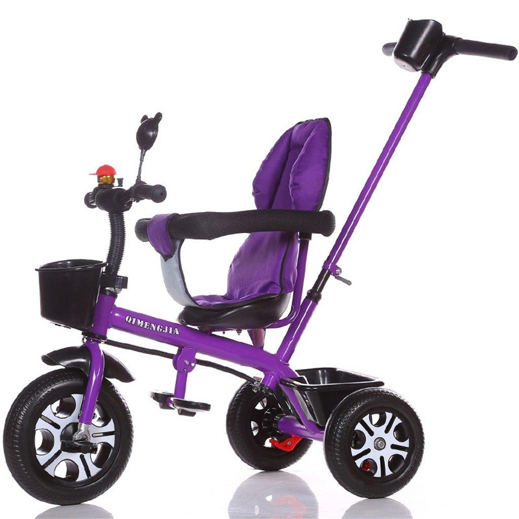 Multifuncional 3-en-1 Sports Edition Trike Triciclo infantil Kid Trolley con Parent Handle para niños de 1-3-6 años Boy and Girl Baby (Vigor Purple Bike) ( Color : A )