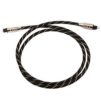 PB PEGGYBUY - Cable digital óptico de audio (fibra óptica, OD6.0,