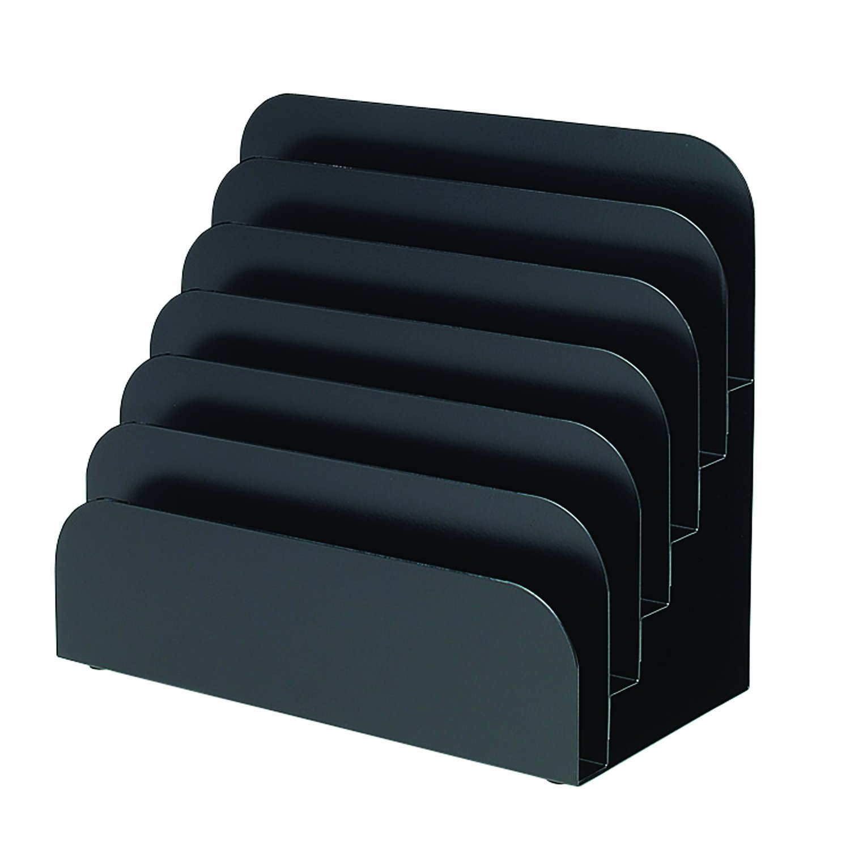 MMF Industries Steel Cashier Pad Rack, 6 Pocket, 8 x 7.5 x 4 Inches, Black (267060604)