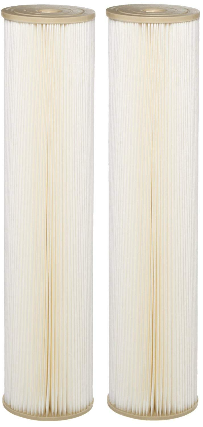 20 x 4-1//2 1 Micron 20 x 4-1//2 Pentair Industries Pentek ECP1-20BB Pleated Cellulose Polyester Filter Cartridge