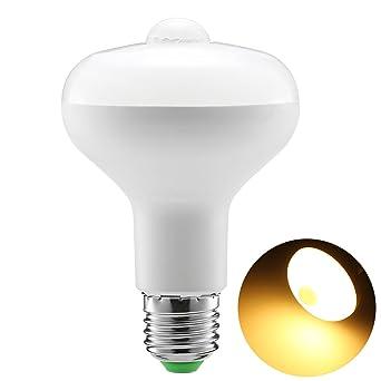Sensor de movimiento Bombilla, 9W R80 PIR Bombillas LED Encendido / Apagado automático Luces nocturnas