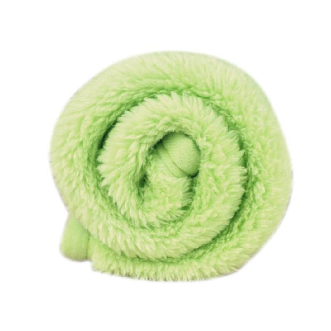 vmree Pet House Bed, Pet Dog Cat Mat Soft Fleece Blanket Puppy Quilt Bed Cushion Pad (Green, 3858cm)