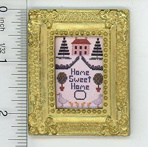 Sampler Print (Dollhouse Miniature 1:12 Home Sweet Home Print of a Sampler)