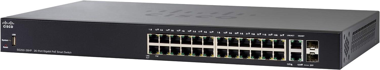 Cisco SG250-26HP-K9-NA Gigabit Ethernet Switch