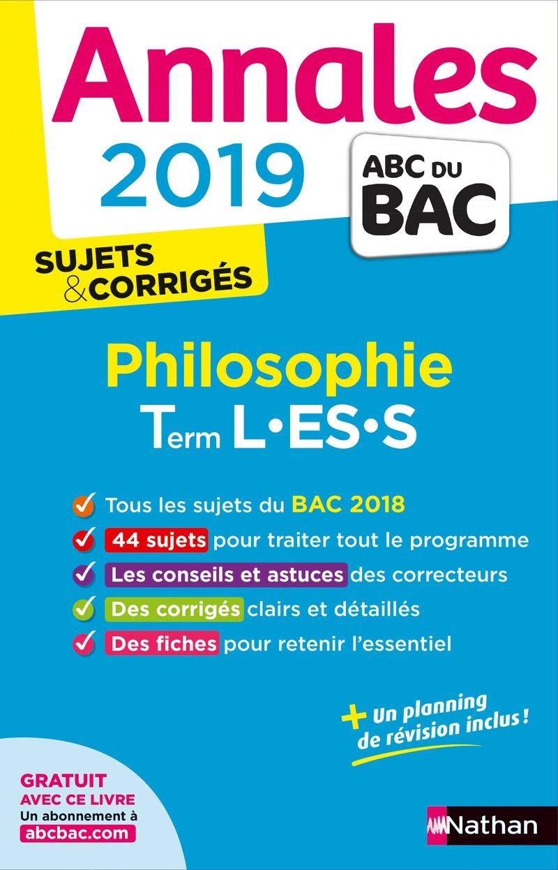 Philosophie Tle L-ES-S : Sujets & corrigés Annales ABC du Bac: Amazon.es: Gérard Durozoi: Libros en idiomas extranjeros