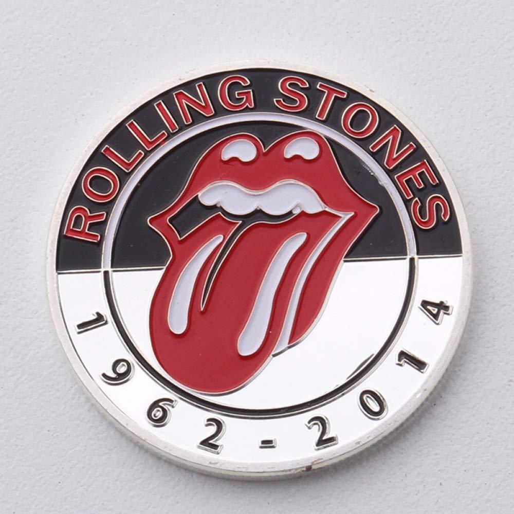 JJZHY Medaglia Commemorativa dei Beatles Rolling Stones, Argento, Taglia Unica